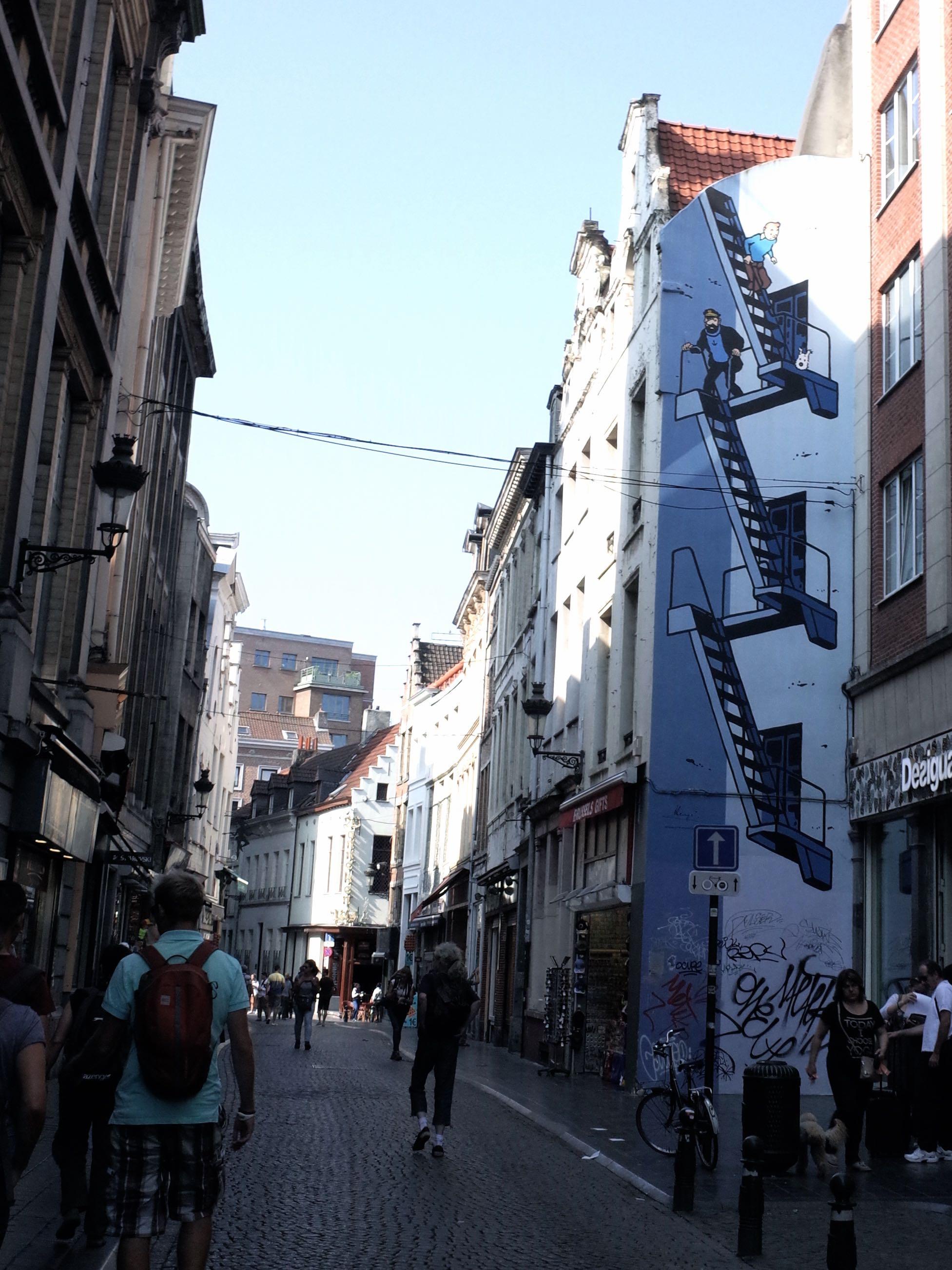 比利時漫畫牆